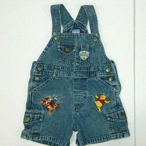 Disney Baby Winnie the Pooh Denim short Overalls